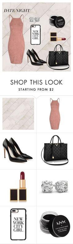 """""""Date night"""" by rozlynjanine ❤ liked on Polyvore featuring Alexander McQueen, Tom Ford, Casetify and NYX"""