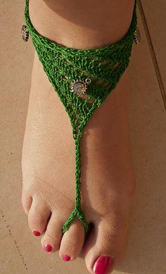 barefoot sandals, free pattern