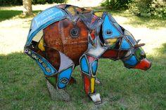 Custom bear sculpture made by Jacob Novinger.