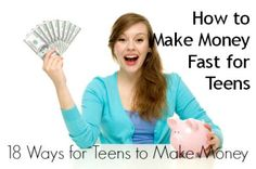 How to Make Money Fast for Teens: 18 Ways for Teens to Make Money - Adelgazar - Make Money Online - How To Make Extra Money Online - HowToMakeExtraMoneyOnline Ways To Earn Money, Make Money Fast, Make Money Blogging, Make Money From Home, Money Tips, Make Money Online, Saving Money, How To Earn Money For Teens, Money Today