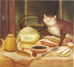 Still Life with Green soup --Fernando Botero, 1972