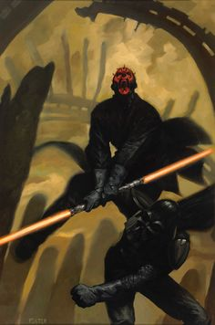 Star Wars - Darth Maul vs Darth Vader by Jon Foster Darth Maul, Star Wars Darth, Star Trek, Geek Art, The Fosters, Illustration Art, Comic Books, Comic Art, Star Wars