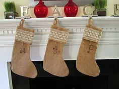 Hey, I found this really awesome Etsy listing at https://www.etsy.com/listing/168640091/3-personalized-initial-burlap-stockings