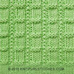 Easy knitting stitch with ribs consisting of small stockinette and reverse stockinette sections. Ribs are separated by single seed stitch chains. Loom Knitting Stitches, Spool Knitting, Easy Knitting, Knitting Patterns, Charity Knitting, Knitted Washcloths, Knit Dishcloth, Knitted Squares Pattern, Waffle Stitch