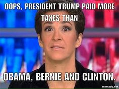 Stupid witch. Guess that blew up in your hateful, ugly face, huh? Serves you right for spouting a bunch of lies about PRESIDENT TRUMP.