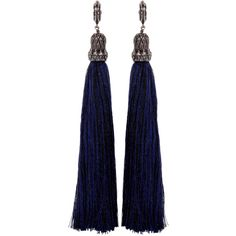Lanvin Black Tassel Earrings (€315) ❤ liked on Polyvore featuring jewelry, earrings, accessories, brincos, jewels, black, tassel pendant, post earrings, lanvin earrings and handcrafted jewellery