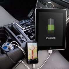 Wagan TWIN USB SOCKETS CUPHOLDER ADAPTER ITEM NUMBER: 2537-5 in car