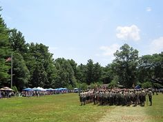 Week 2 Dress Parade at Camp Yawgoog, Rockville, Hopkinton, Rhode Island (RI).  A July 13, 2014, image by David R. Brierley.