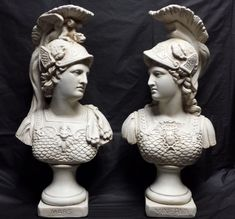 """Mars (Ares) & Minerva (Athena) set of 2, 16"""" tall bust scupltures   Something like this would be awesome."""