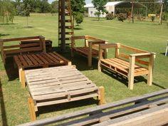Muebles de jardín hechos con pallets de madera