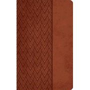 NKJV Giant Print Center Column Reference Bible, Leathersoft, auburn  -