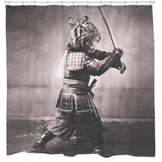 Samurai Tiger Shower Curtain – Sharp Shirter