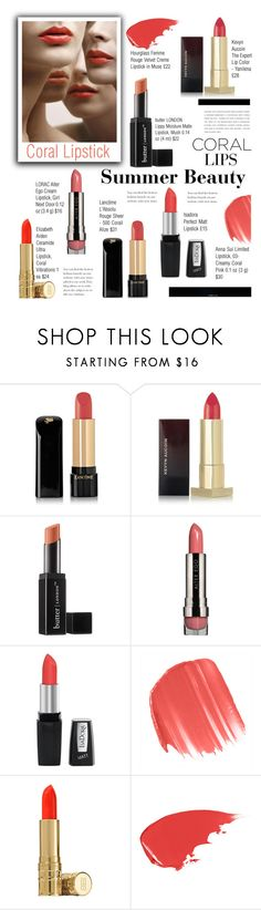 """Untitled #695"" by cly88 ❤ liked on Polyvore featuring beauty, Lancôme, Kevyn Aucoin, Butter London, LORAC, Isadora, Anna Sui, Elizabeth Arden, Hourglass Cosmetics and Christian Dior"