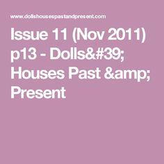 Issue 11 (Nov 2011) p13 - Dolls' Houses Past & Present