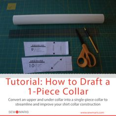Tutorial: How to Draft a 1-Piece Collar
