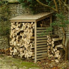 Weatherproof Wooden Log Store will keep logs tidy, dry and ready for the fireside. Made from sustainably sourced pine with ventilation slats and roof.