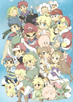 Super Smash Bros Anime style