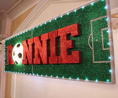 Soccer Party - Portfolio - Flowers Time. 3D name banner