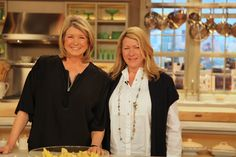 Martha Stewart and her sister Laura Martha Stewart Blog, Martha Stewart Crafts, Siblings, Twins, Love Your Sister, Whats Gaby Cooking, Pot Racks, Family Relations, Domestic Goddess