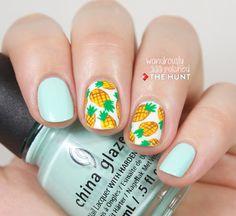Pineapple Print Nail Tutorial