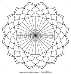 Vector ant-istress coloring book with geometric mandala.