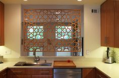 islamic geometric art, for the kitchen. lattices.