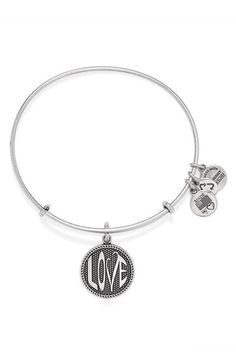 8ed02127a0 Alex and Ani 'Open Love' Expandable Wire Bangle available at #Nordstrom  Alex And
