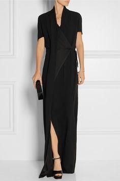 Chalayan | Wrap-effect crepe maxi dress | NET-A-PORTER.COM
