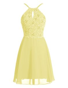 BeryLove Women's Short Beaded Keyhole Chiffon Homecoming Party Dress -- Visit the image link more details. (This is an affiliate link) #CocktailDress