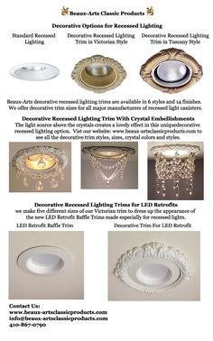 Decorative Recessed Light Trim Options | Beaux-Arts Classic Products