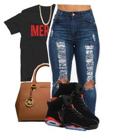 """✨"" by deasia-still-thugin-honey ❤ liked on Polyvore featuring beauty, adidas Originals and MICHAEL Michael Kors"