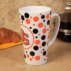 Oregon State Beavers 16oz. Polka Dot Ceramic Latte Mug