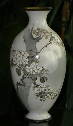 Japanese Cloisonne Enamel Vase Sosuke