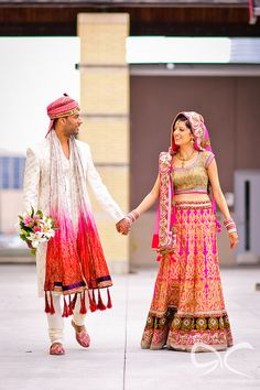 Beautiful Indian Brides, love on the runway Indian Bridal Outfits, Indian Bridal Wear, Indian Dresses, Indian Wear, Bridal Dresses, Indian Clothes, Desi Wedding, Wedding Attire, Punjabi Wedding