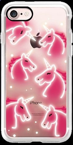 Casetify iPhone 7 Classic Grip Case - Happy neon Unicorn by Olga Komasinska #Casetify