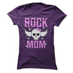 (Tshirt Popular) Rock Mom Cute Metal T Shirt [Tshirt Facebook] Hoodies, Funny Tee Shirts
