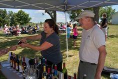 Wine tasting at an Ardon Creek music event