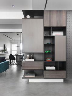 on Behance Living Room Cabinets, Living Room Tv, Foyer Design, Bed Design, Interior Concept, Home Interior Design, Home Entrance Decor, Home Decor, Study Table Designs