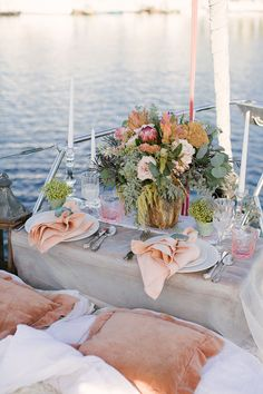 Be Inspired by a Nautical Wedding Shoot on a Sailboat - Reception Décor - Yacht wedding Boat Wedding, Yacht Wedding, Beach Wedding Favors, Bridal Shower Favors, Wedding Shoot, Destination Wedding, Wedding Planning, Wedding Souvenir, Elopement Wedding