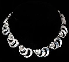 Vintage MEXICAN Silver Repousse NECKLACE by MyEarthlyAdornments, $265.00