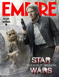 Star Wars stalwart: Harrison Ford appears on one of the special covers in character as Han...