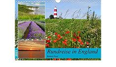 Rundreise in England (Wandkalender 2021 DIN A3 quer) England, Baseball Cards, Author, Wall Calendars, Round Trip, Deutsch, Viajes, English, British
