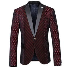 Wine Red Woolen Winter Casual Blazer Fashion Slim Fit Solid Color High Quality 2016 New Arrival Suit Jackets Costume Homme Terno Mens Burgundy Blazer, Red Blazer, Casual Blazer, Blazer Jacket, Jacket Men, Floral Blazer, Casual Suit, Blazer Suit, Wedding Blazers