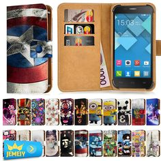 For Alcatel One Touch Idol X+ 6043 6043D TCL S960 Case Leather Universal Wallet Adjustble Printed Flip Cover Cases Middle Size #Affiliate