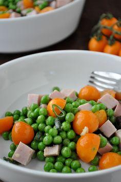 Pea, Tomato & Ham Salad | farmgirlgourmet.com
