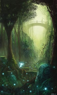 (via (45) Fairy scenery | Art and Illustration | Pinterest | Gabriel, Fairies and Forests)