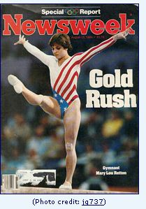 Mary Lou Retton on the cover of Newsweek (photo credit: jg737)