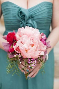 REVEL: Teal, Pink + Peach Wedding Inspiration