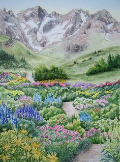 Alpine garden, French Alps.