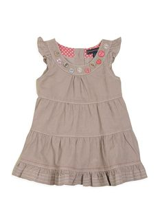 Pumpkin Patch Baby Girl's Button Cord Pinnie Dress Latte 3 - 6 Months: Amazon.co.uk: Clothing